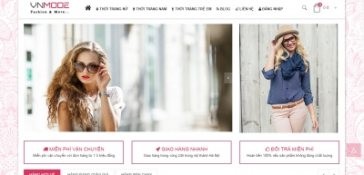 Xây dựng web bán hàng thời trang cho VNMODE