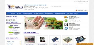 Xây dựng web bán linh kiện điện tử cho Vntech24h