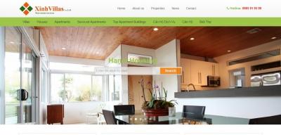 Xây dựng web bất động sản cho Xinhvillas