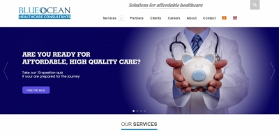 Xây dựng web cho công ty BlueOcean Healthcare Consultants