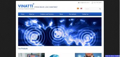 Xây dựng web cho công ty công nghệ Vinatti