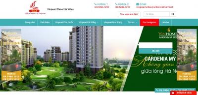 Xây dựng web giới thiệu bất động sản cho Villasvietnam.net