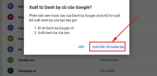 download danh ba tu google mail