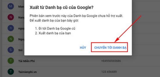 download danh ba tu google mail