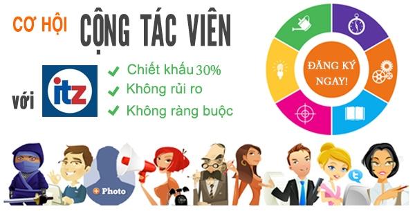 ITZ Việt Nam tuyển cộng tác viên kinh doanh website toàn quốc
