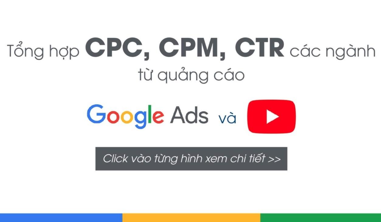 Tổng hợp CPC, CPM, CTR các ngành từ quảng cáo