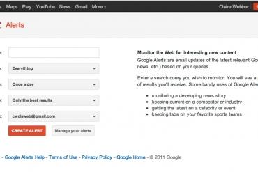 Cách sử dụng Google Alerts tối ưu và hiệu quả