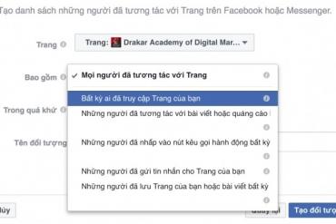 Quảng cáo Facebook - Hướng dẫn tạo tệp đối tượng những người đã tương tác với trang