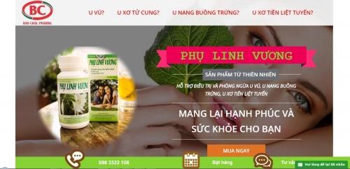 Landing page bán mỹ phẩm hoặc thuốc, thực phẩm chức năng