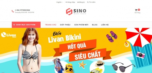 Mẫu thiết kế web bán hàng 14