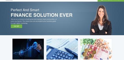 Mẫu thiết kế web công ty tư vấn đầu tư tài chính