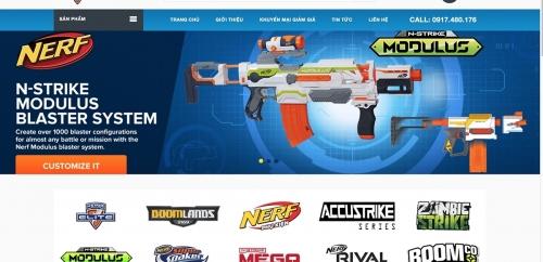 Mẫu thiết kế web shop bán hàng online