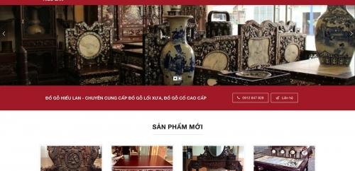Thiết kế web bán đồ gỗ nội thất