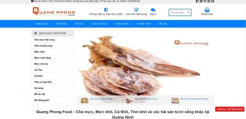 Thiết kế web bán hải sản đặc sản
