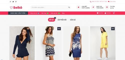 Thiết kế web bán hàng thời trang mỹ phẩm ...