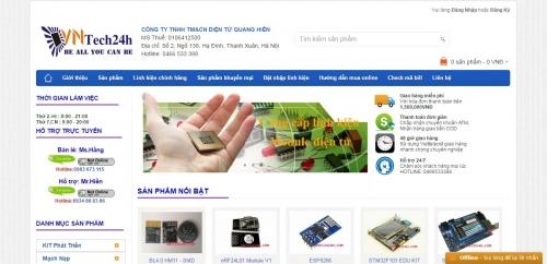 Thiết kế web bán linh kiện điện tử