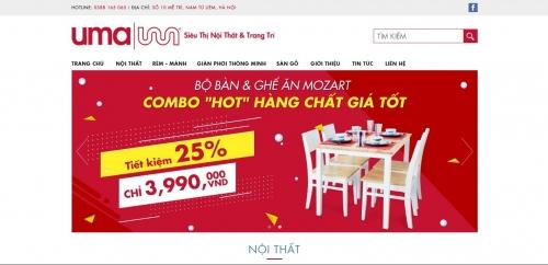 Thiết kế web bán nội thất cao cấp