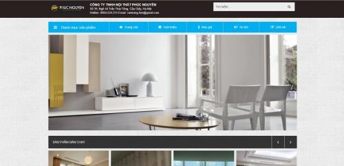 Thiết kế web bán rèm