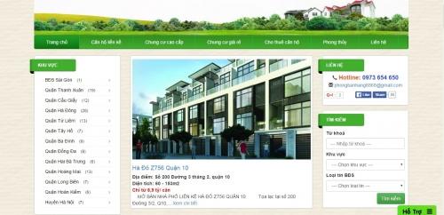 Thiết kế web bất động sản 03