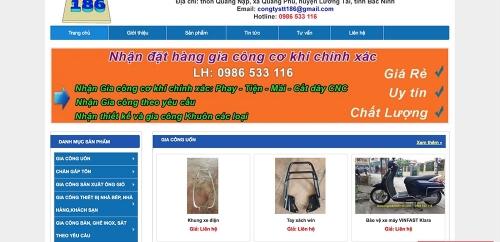 Thiết kế web cho công ty gia công cơ khí