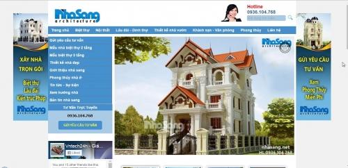 Thiết kế web cho công ty thiết kế nội thất