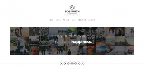 Thiết kế web cho Photographer