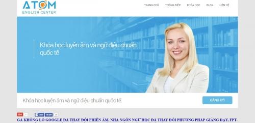 Thiết kế web cho trung tâm tiếng Anh