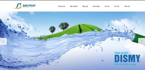 Thiết kế web công ty bán thiết bị điện nước