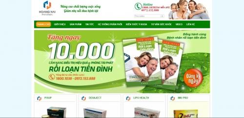Thiết kế web công ty dược