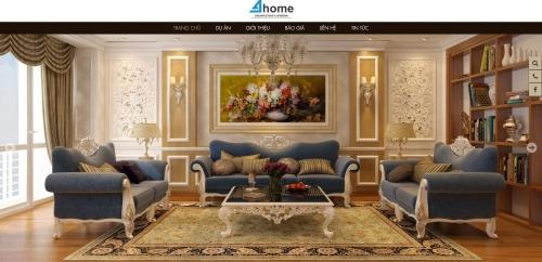 Thiết kế web công ty kiến trúc