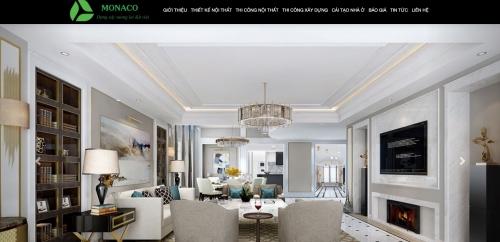 Thiết kế web công ty nội thất kiến trúc xây dựng