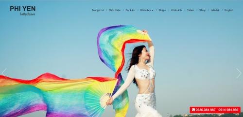 Thiết kế web dạy múa Bellydance