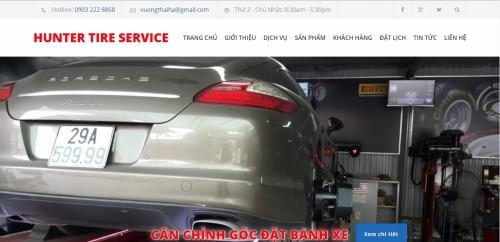 Thiết kế web dịch vụ bảo dưỡng xe