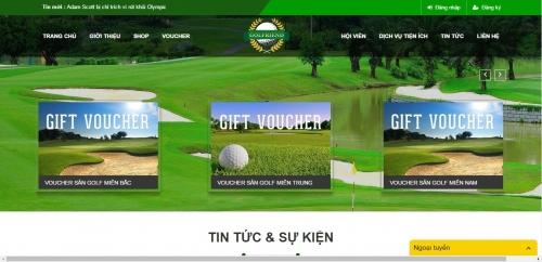 Thiết kế web dịch vụ golf