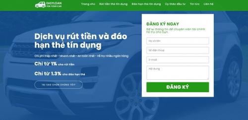 Thiết kế web dịch vụ thẻ tín dụng, vay tín chấp, vay thế chấp