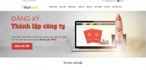 Thiết kế web song ngữ công ty luật
