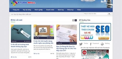 Thiết kế web tin tức tổng hợp 03