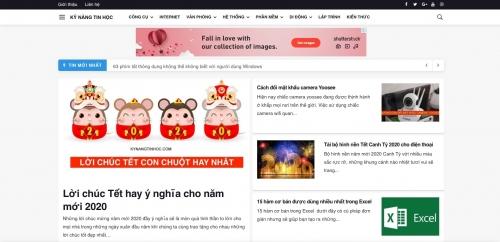 Thiết kế web tin tức tổng hợp, báo chí, blog, công ty