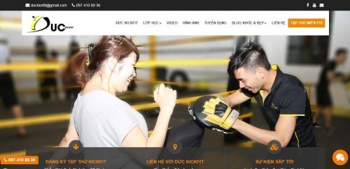 Thiết kế web trung tâm gym, kickfit