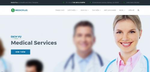 Thiết kế web trung tâm y tế, phòng khám 02
