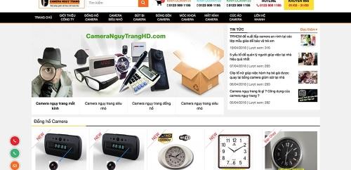 Thiết kế website bán camera shop đồ điện tử công nghệ