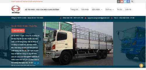 Thiết kế website bán xe oto 02