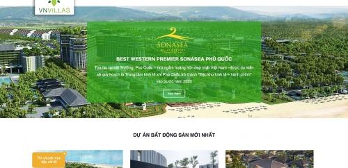 Thiết kế website bất động sản cao cấp