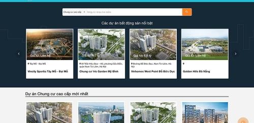 Web site về dự án bất động sản
