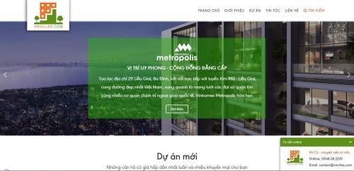 Web site về dự án bất động sản cao cấp