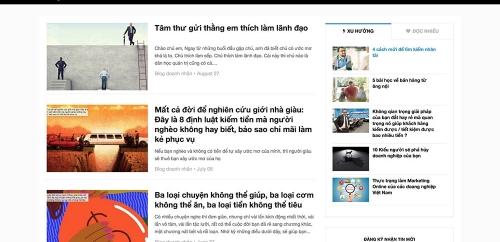 Website tin tức tổng hợp, báo điện tử, blog